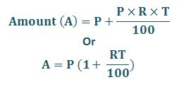 Simple Interest Amount Formula