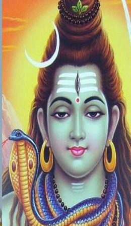 Snake in Shiva neck