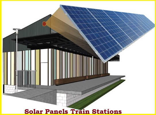 Solar Panels Train Station