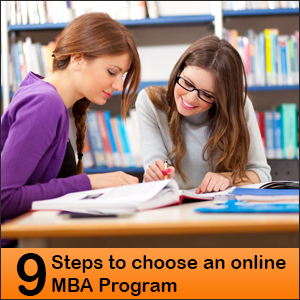 9 Steps to choose an online MBA Program