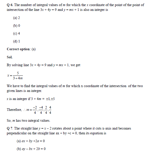 Straight lines practice question