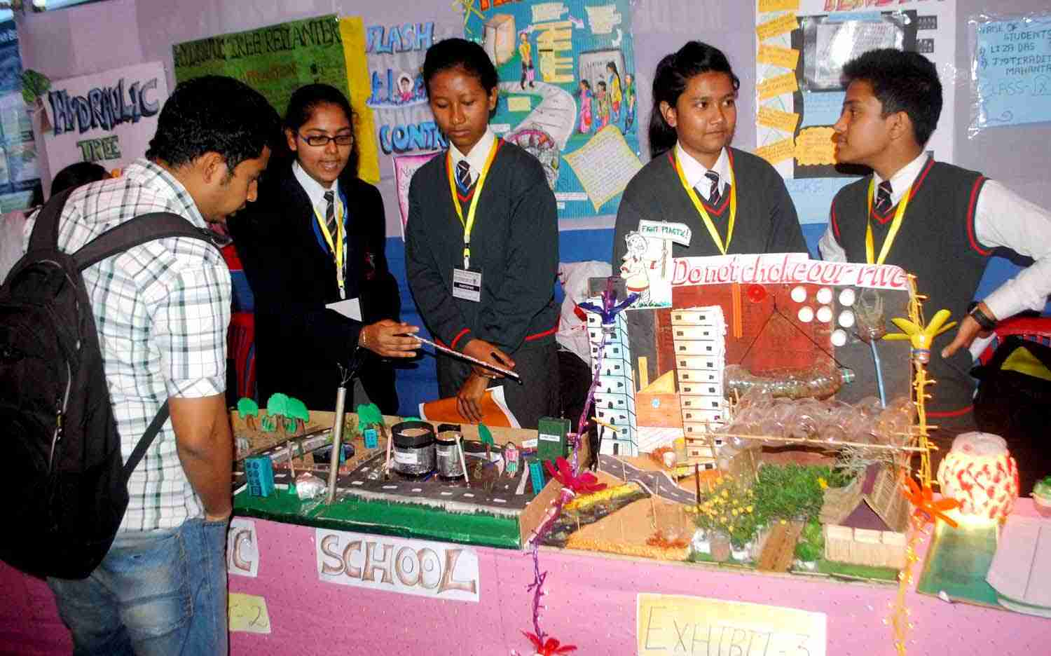 Students celebrating National Science Day