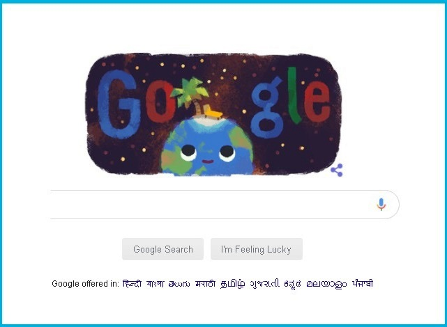 Doodle of Google.com Celebrating Summer Season