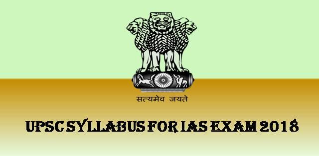 Upsc civil services ias exam 2018 syllabus pdf free download upsc ias exam syllabus 2018 fandeluxe Images