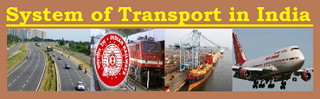 GK Question and Answers on the System of Transport in India
