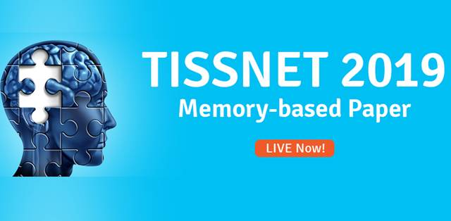 TISSNET 2019 Question Paper & Answer Key (Memory-Based)