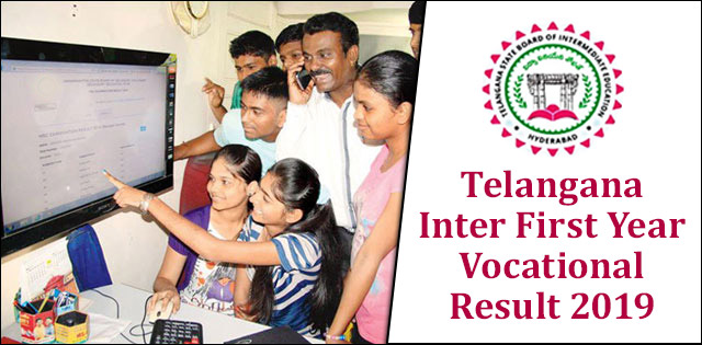 Telangana Inter First Year Vocational Result 2019