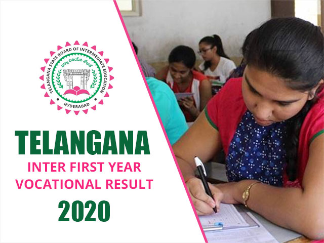 Telangana Board Inter First Year Vocational Result 2020