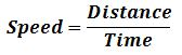 Time Speed Distance Formula