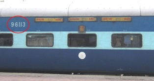 Train coach number new
