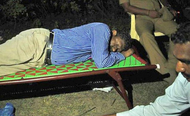 Sagayam's night in Graveyard