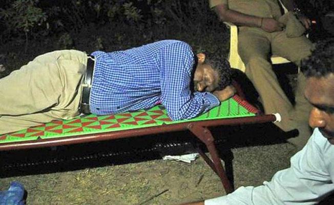 Sagayam's night in Graveyard