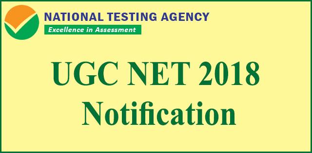 UGC NET December 2018 notification