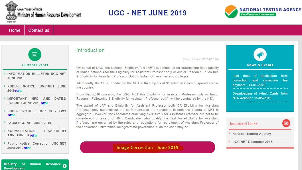 UGC NET Image Correction
