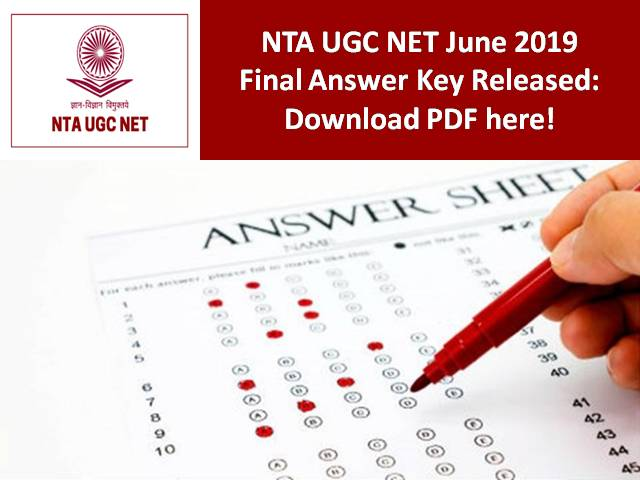 UGC NET 2019 Final Answer Key Released: Download PDF here!