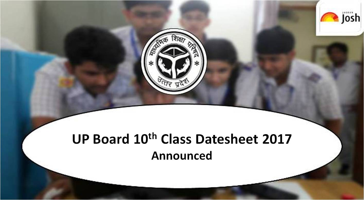 Up board 10th date sheet 2017 up board high school time for Up board 10th time table