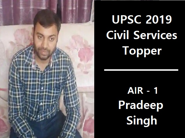 Pradeep Singh Tops In UPSC Result While Working As An Income Tax Inspector