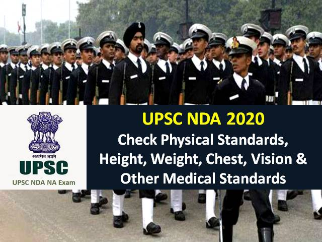 UPSC NDA 2020 Physical Standards: Check Before Registration-Height, Weight, Chest, Vision & Other Medical Standards to Join Indian Army/Navy/Air Force
