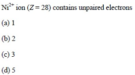 UPSEE Atomic Structure Question 4