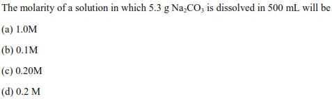 UPSEE Basic concetps of chemistry Q3