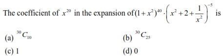 UPSEE Binomial Theorem question 3