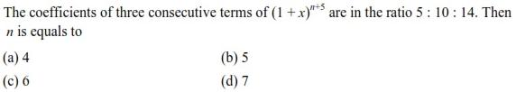 UPSEE Binomial Theorem question 4