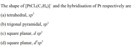 UPSEE Chemical bonding questions 1