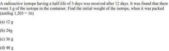 UPSEE Chemical Kinetics Question 3