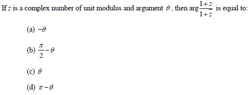 UPSEE Complex number Question 2