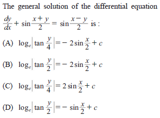 UPSEE Differential Equation Question 2