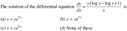 UPSEE Differential Equation Question 3