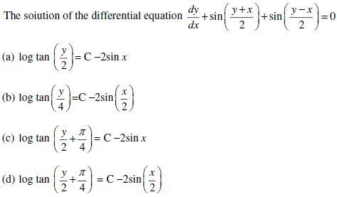 UPSEE Differential EquationQuestion 4