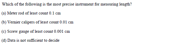 WBJEE Question 3 (Dimension and Measurements)