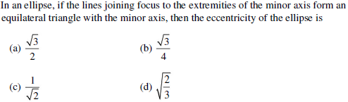 UPSEE Ellipse Question 1