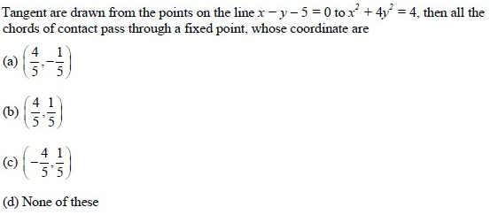 UPSEE Ellipse Question 4