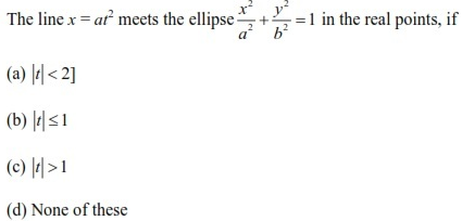 UPSEE Ellipse Question 5