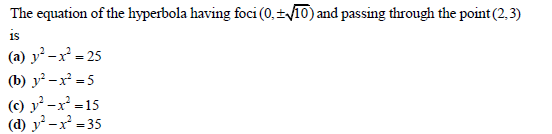 UPSEE Hyperbola Question 2