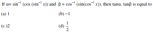 UPSEE Inverse Trigonometric Functions Question 1