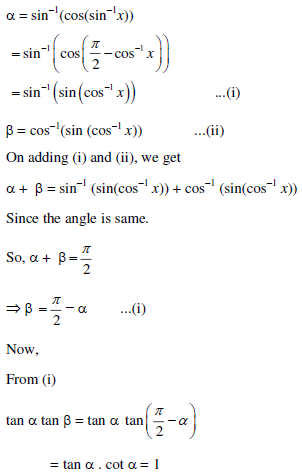 UPSEE Inverse Trigonometric Functions Solution 1