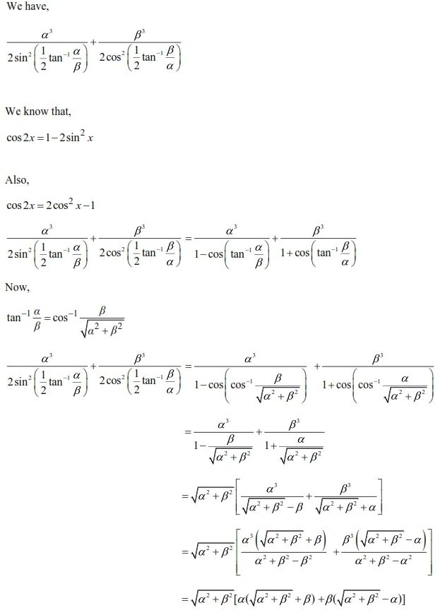 UPSEE Inverse Trigonometric Functions Solution 3