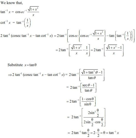 UPSEE Inverse Trigonometric Functions Solution 4