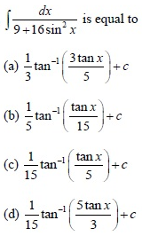 UPSEE Integrals Question 1