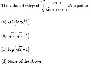 UPSEE Integrals Question 5