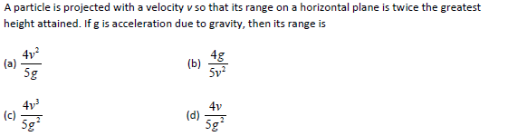 UPSEE Kinematics question 3