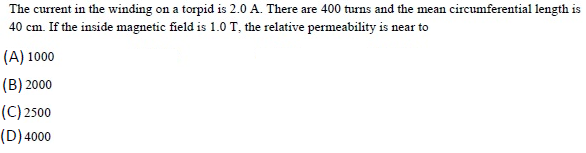 WBJEE Magnetism Question 3