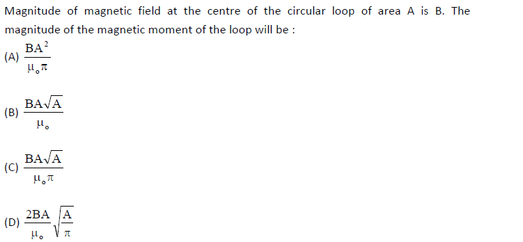 UPSEE_Magnetism_question_3