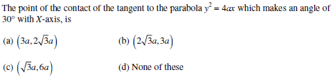 UPSEE Parabola Question 1
