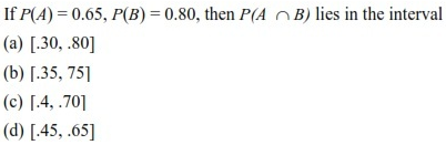 UPSEE Probability Question 1