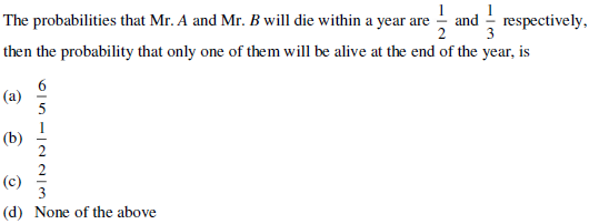 UPSEE Probability Question 4