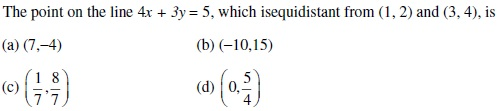 UPSEE Straight lines Question 1
